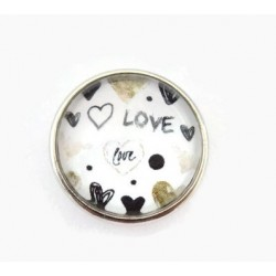 Bouton-pression interchangeable Love - Amour