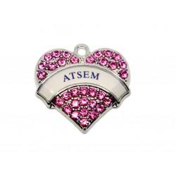 Breloque Coeur ATSEM x2