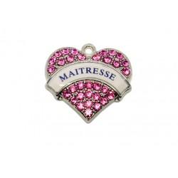 Breloque Coeur MAITRESSE x2