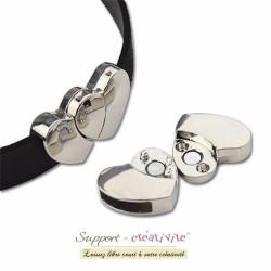 Fermoir-magnétique-fermoir-aimante-pour bracelet - argent