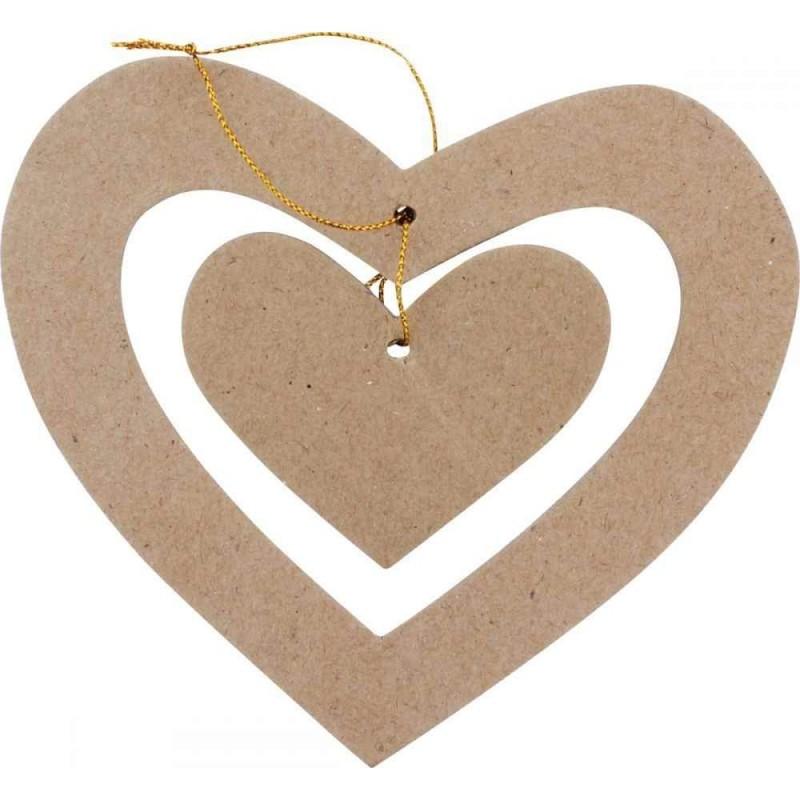 Coeur à suspendre en carton