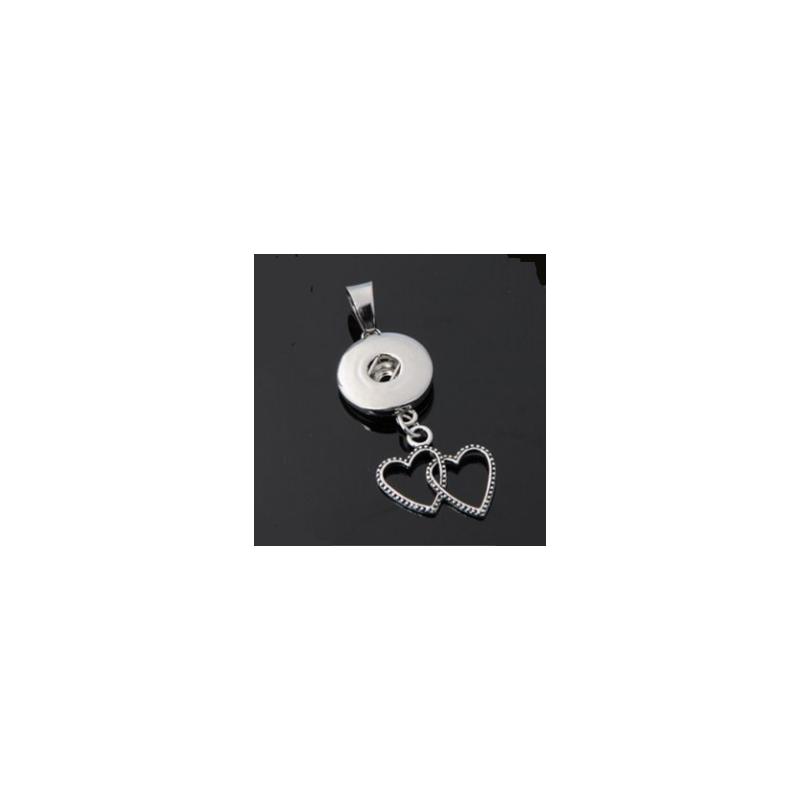 copy of Collier fleur avec pendentif à bouton-pression