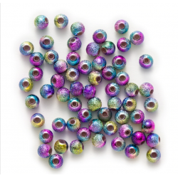 Perles acryliques multicolores 6-8 mm