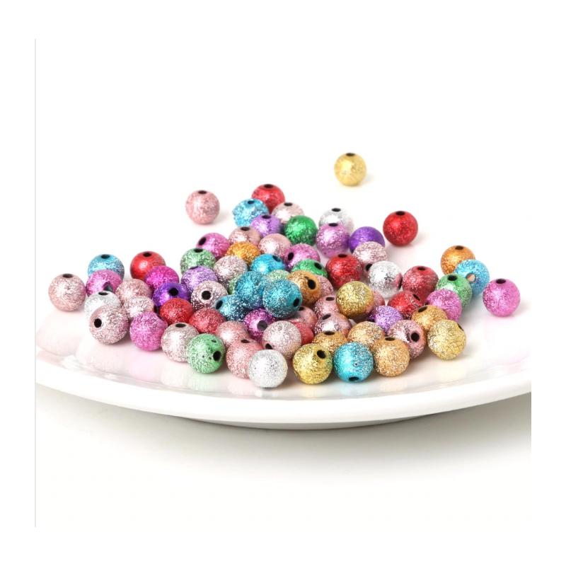 copy of Perles acryliques multicolores 6-8 mm