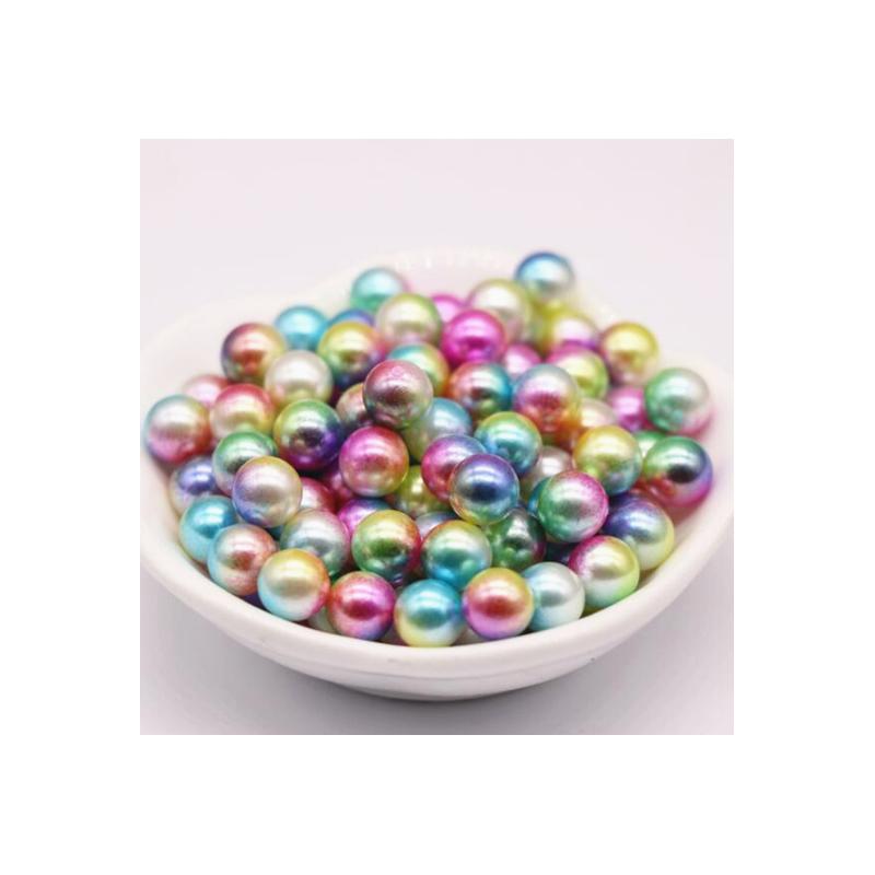 Perles acryliques rondes arc en ciel 8 mm