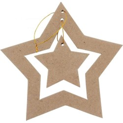 Etoile double de Noël en carton