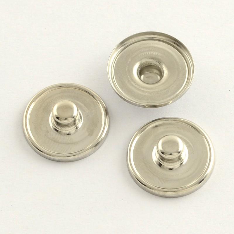 X 10 supports cabochon à bouton-pression 18 mm