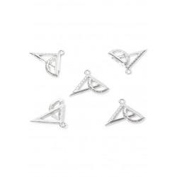 Pendentifs/breloques en métal geo triangle
