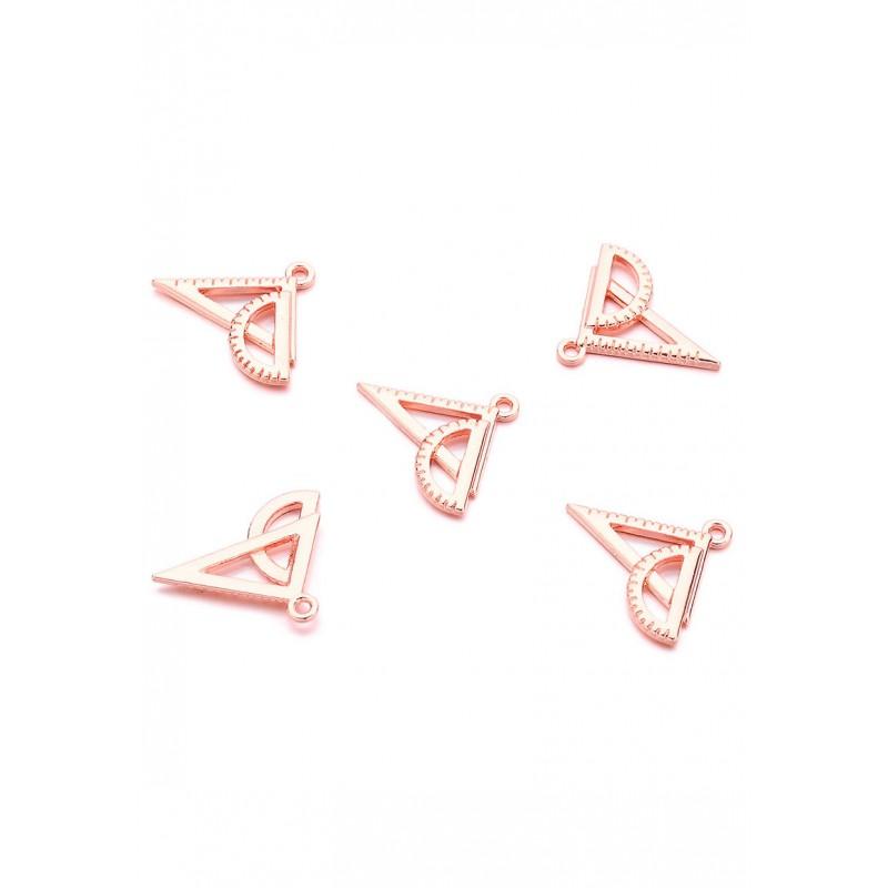 Pendentifs/breloques en métal geo triangle Couleur d'or rose