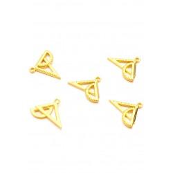 Pendentifs/breloques en métal geo triangle Doré