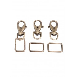 Porte-clés en métal avec anneau Couleur bronze vieux