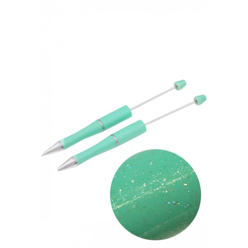 stylo à décorer pour perles - vert menthe