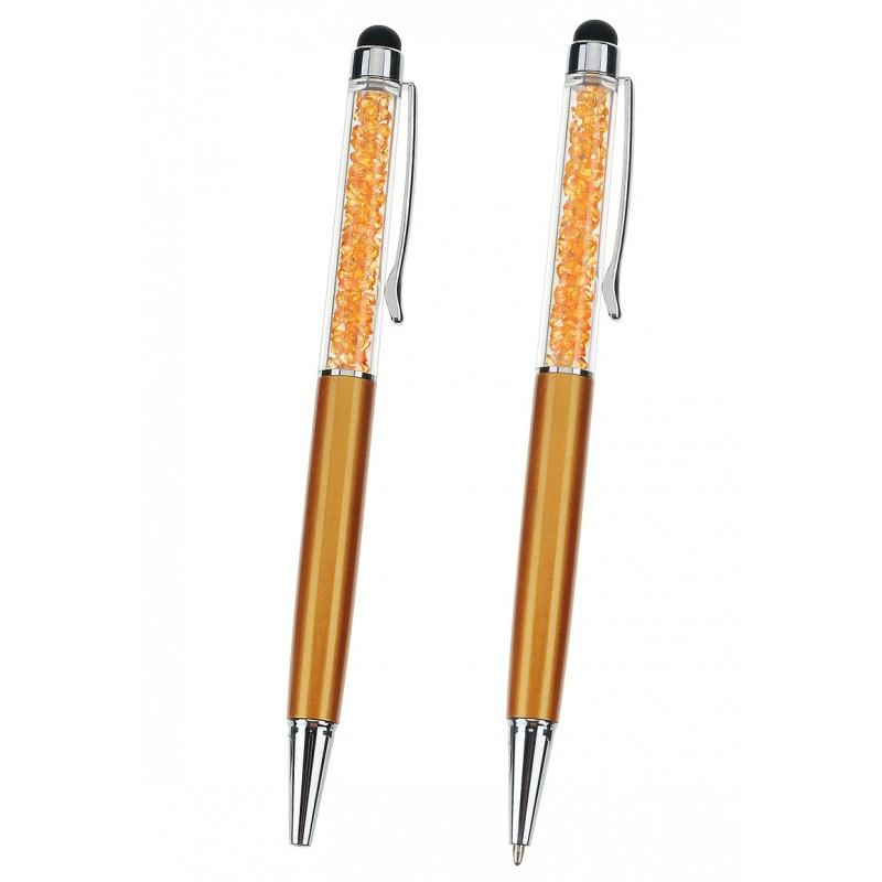 stylo-orange-dore-avec-strass-a-l-interieur-support-creativite.com