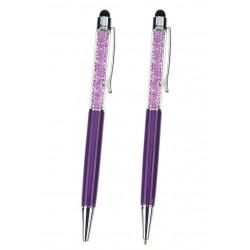 Stylo Lilas-violet avec strass à l'intérieur