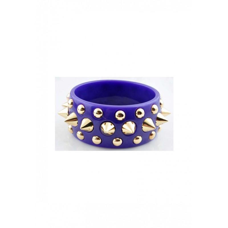 Bracelet-de-matière- synthétique-avec-studs