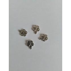 4-Pendentifs/breloques-Fleur- Argent-Vieilli-16mm-x-13mm-support-creativite-com