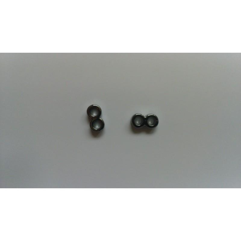 Séparateurs en métal avec 2 trous 13x5,5x4mm