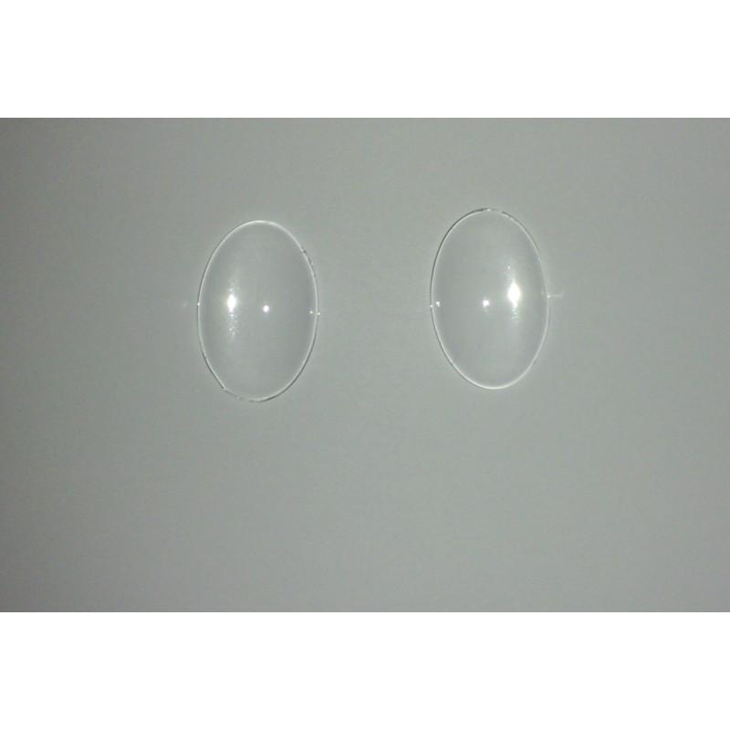 Cabochons en verre ovale 30x20mm
