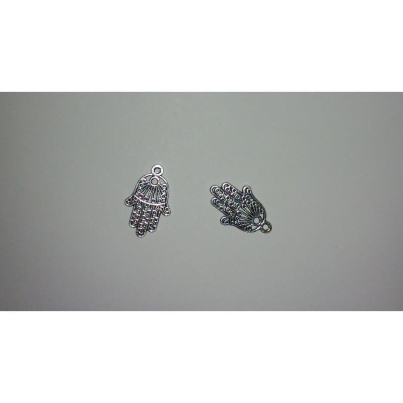 Pendentifs/breloques main en métal de Fatima 24x15mm support-creativite.com