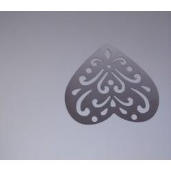 Marque-pages coeur en acier inoxydable 50x45mm