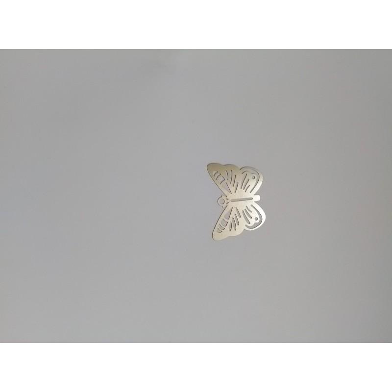 Marque-page papillon en acier inoxydable 44x34mm