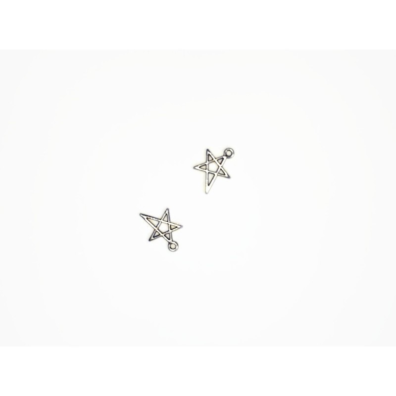 Pendentifs/breloques étoile en métal 18x13mm