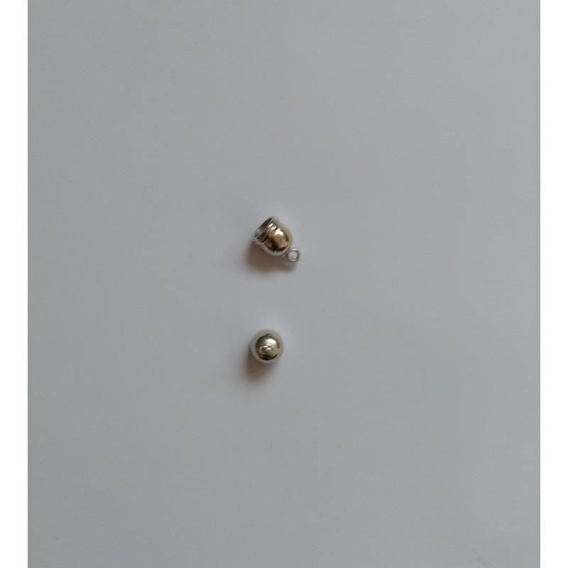 Calottes 12,5x8mm look avec oeil en métal 12,5x8mm