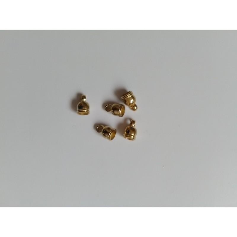 Calottes 10,5x7mm, look avec oeil en metal 10,5x7mm