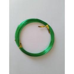 https://support-creativite.com - Fil aluminium 1mm - vert - pour bijoux