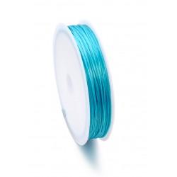 Fil de nylon élastique plat 0,8mm-bleu azur(12 mètre par rouleau)  https://support-creativite.com/