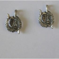 Pendentifs/breloques en métal signe du Zodiaque poissons