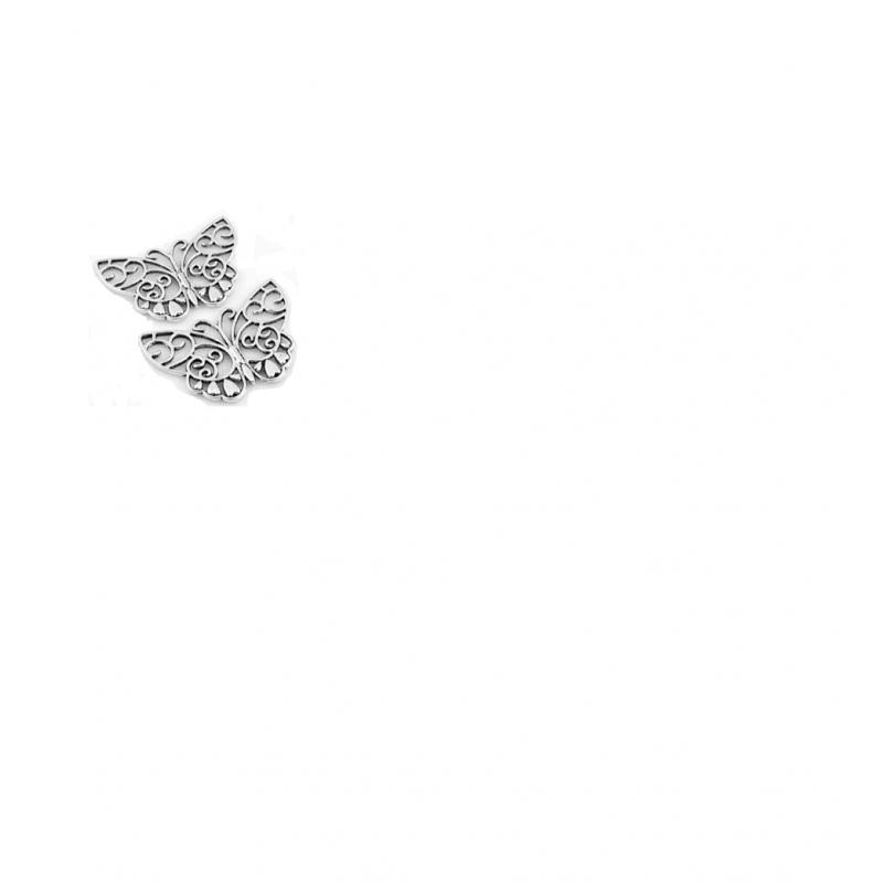 Pendentif/entre-deux en métal papillon 39x26mm  support-creativite.com