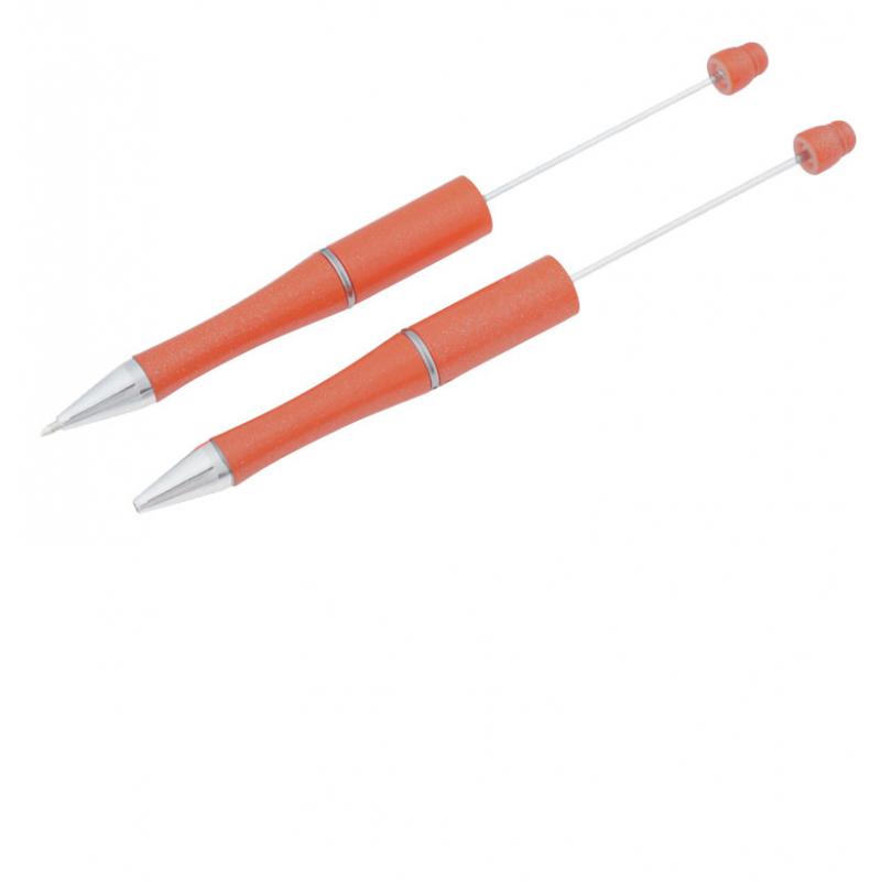 Stylo à décorer pour perles à personnaliser orange support-creativite