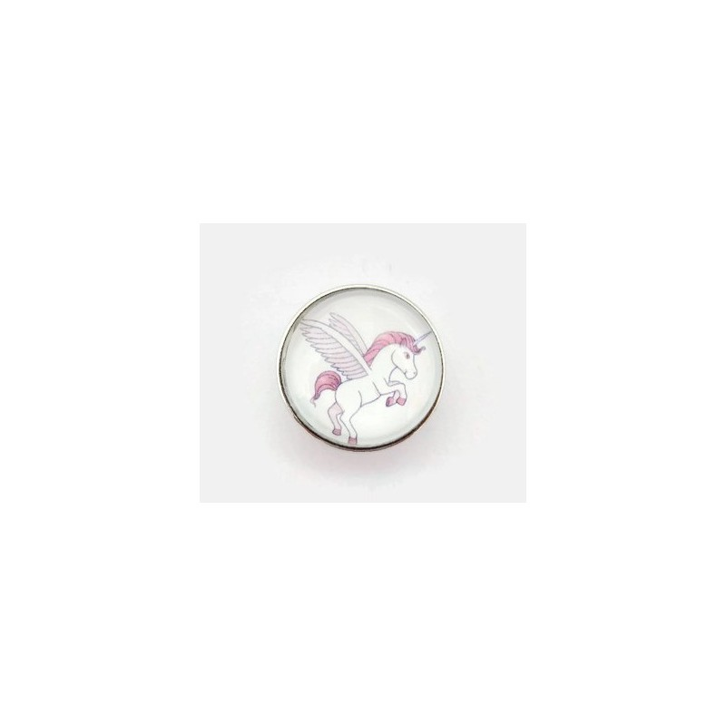 bouton-pression interchangeable Licorne