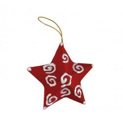 Etoile de Noël en carton à suspendre