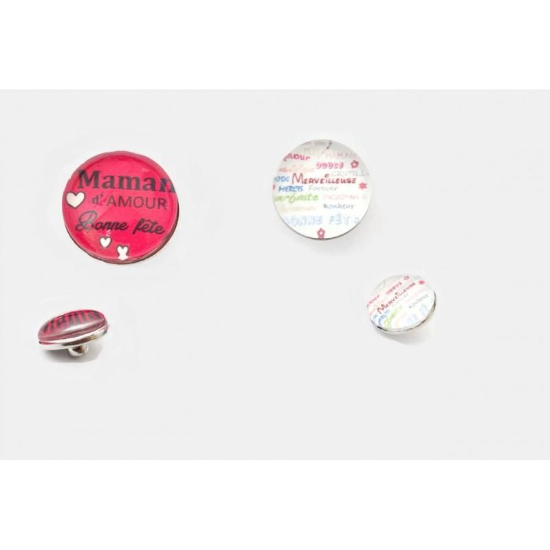 bouton-pression interchangeable Fête des mères